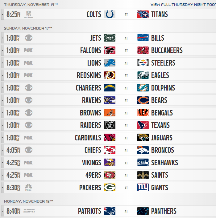 graphic regarding Nfl Week 16 Printable Schedule called NFL Timetable 2013: In depth Detroit Lions Month to month Year
