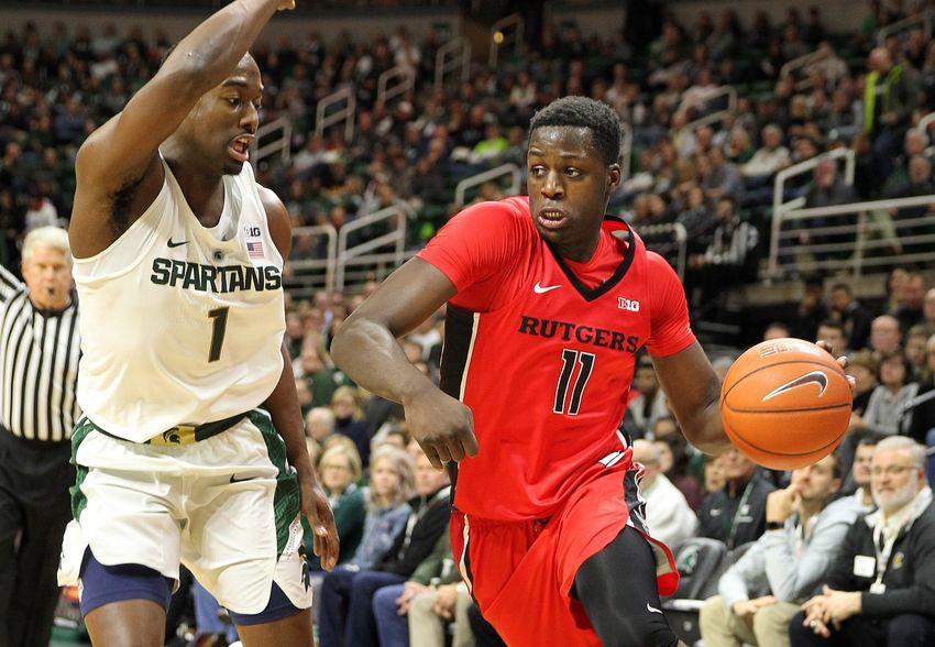 buy popular c6f49 8bbf3 Michigan State Romps Over Rutgers In Miles Bridges' Return